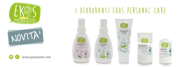 Nuovi Deodoranti Ekos Personal Care