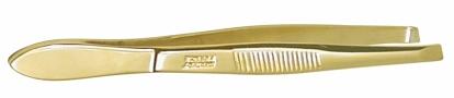 749 ABOR - Pince à épiler professionnelle, morts biais, dorée, 9cm58019